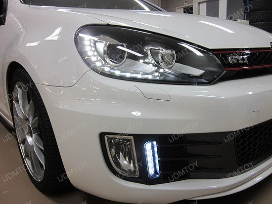 Exact Fit Volkswagen GTi LED DRL Kit 1