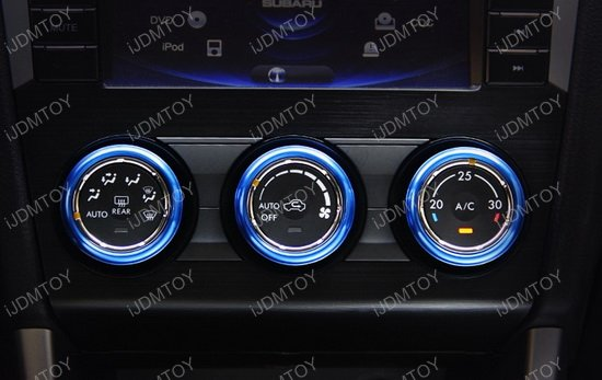 Subaru Anodized Aluminum AC Climate Control Knob Ring Covers