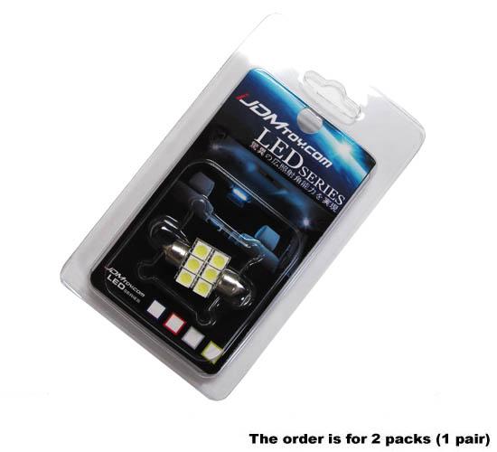 6-SMD Festoon LED bulbs DE3175 DE3021 DE3022