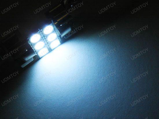 JDM Super Bright Xenon White, Ultra Blue or Brilliant Red 6-SMD D31mm Festoon Map Dome LED bulbs for DE3175 DE3022 3175