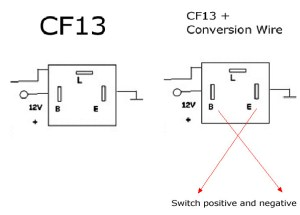 3Pin CF13 & CF14 LED Flasher Relay For Turn Signal Lights
