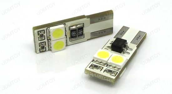 4-SMD Error Free T10 LED bulbs