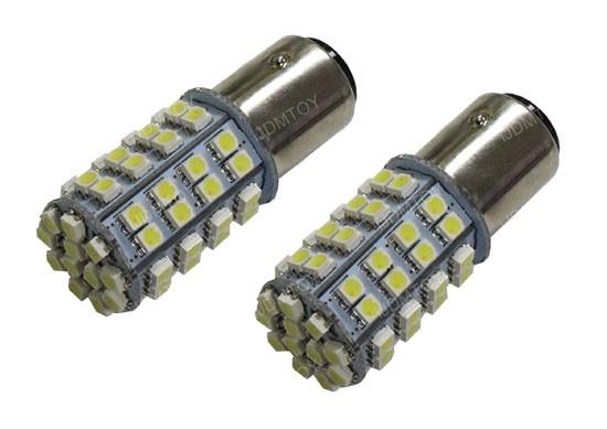 1157 (aka 2057 2357 7528) Switchback LED Bulbs (60-White 60-Amber) For Turn Signal Lights