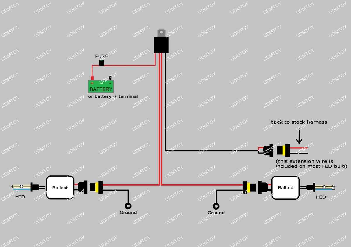 How To Install Hid Conversion Kit Relay Harness Wiring