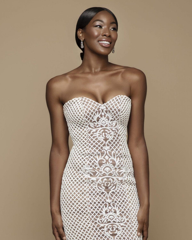 Black model in Jean Ralf Thurin wedding dress