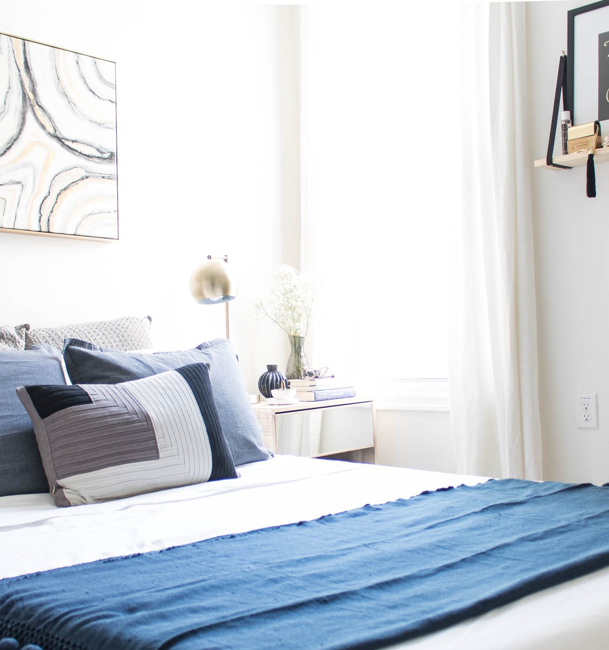 Klassy Kinks bedroom decor, blue and grey bedroom, modern bedroom decor