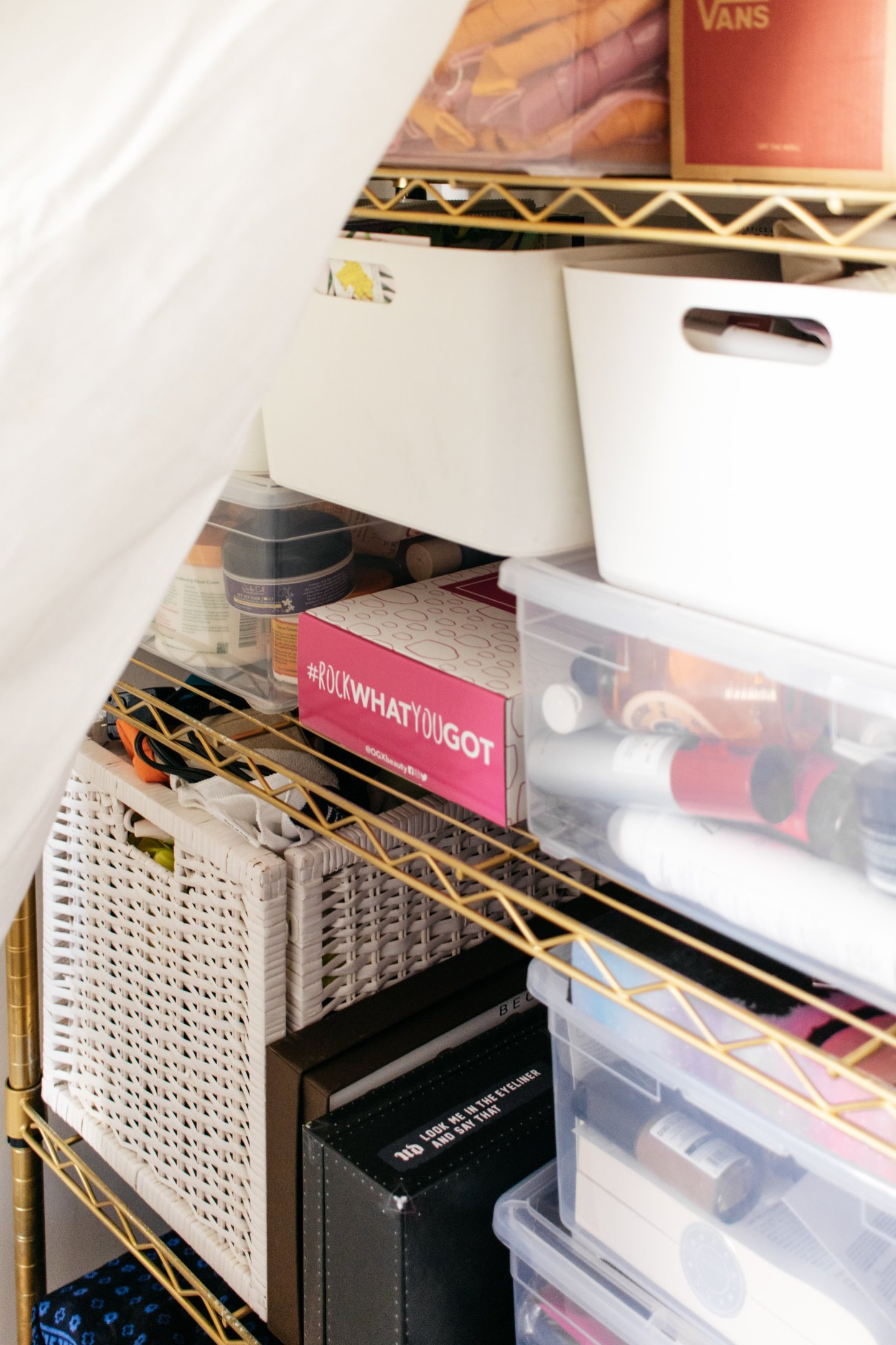 Home Office to Guest Bedroom Makeover - Hidden Wire Shelving