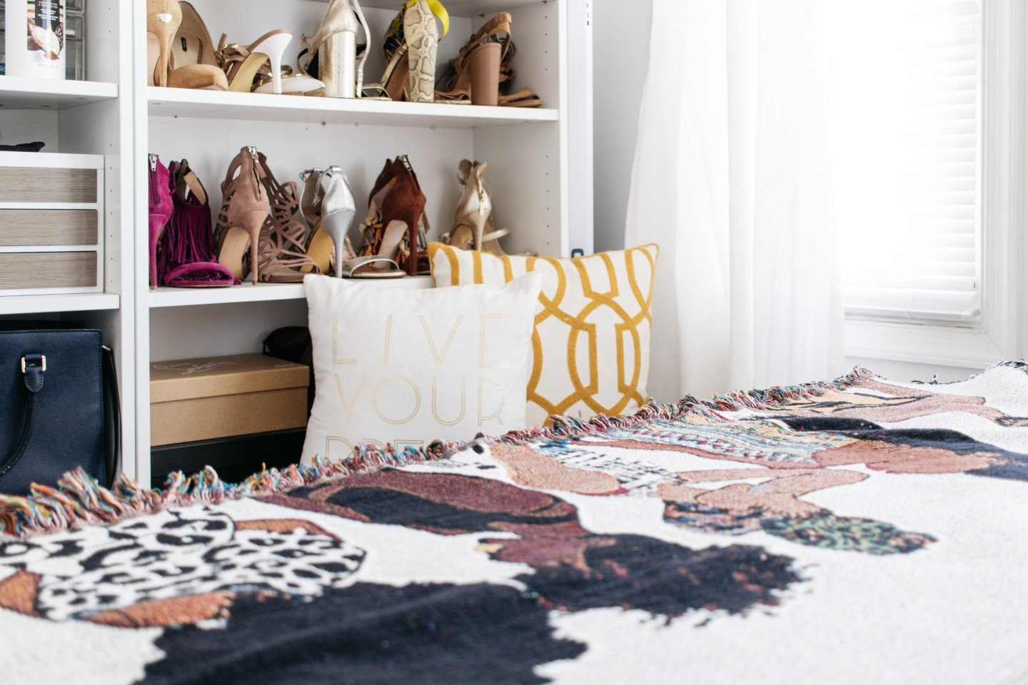 Home Office to Guest Bedroom Makeover - Pardon My Fro Throw Pillow