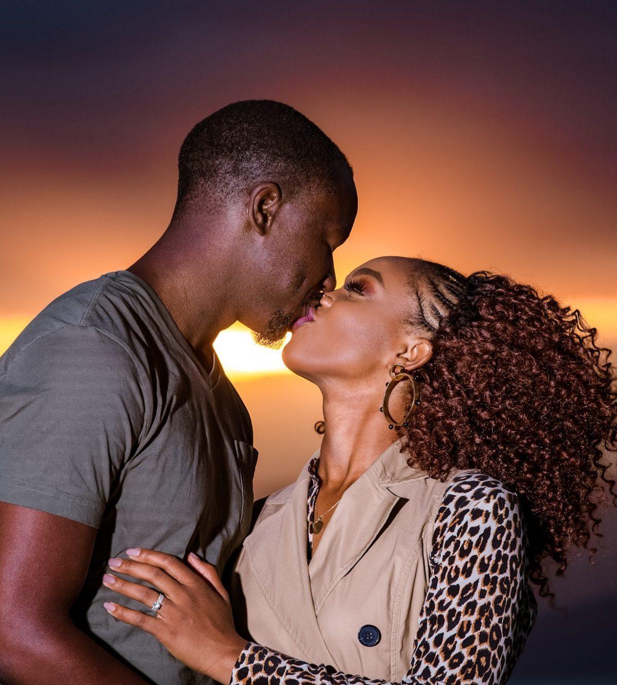 Ijeoma and Jonathan Kola, sunset kiss photography, crescent island kenya