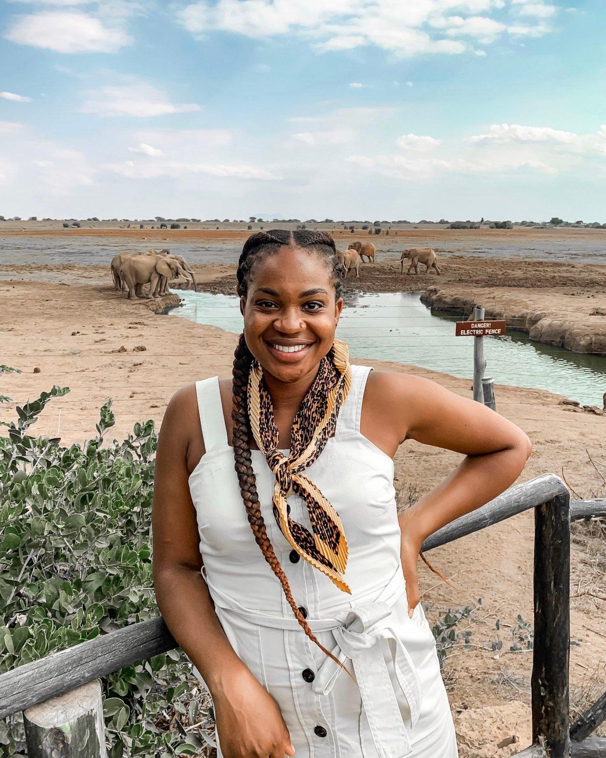 Ijeoma Kola at Tsavo East National Park
