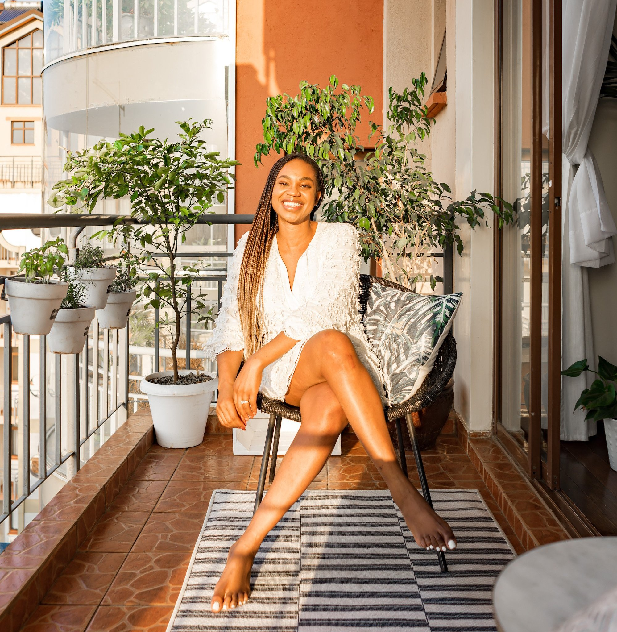 Cozy Balcony Decor | Ijeoma Kola