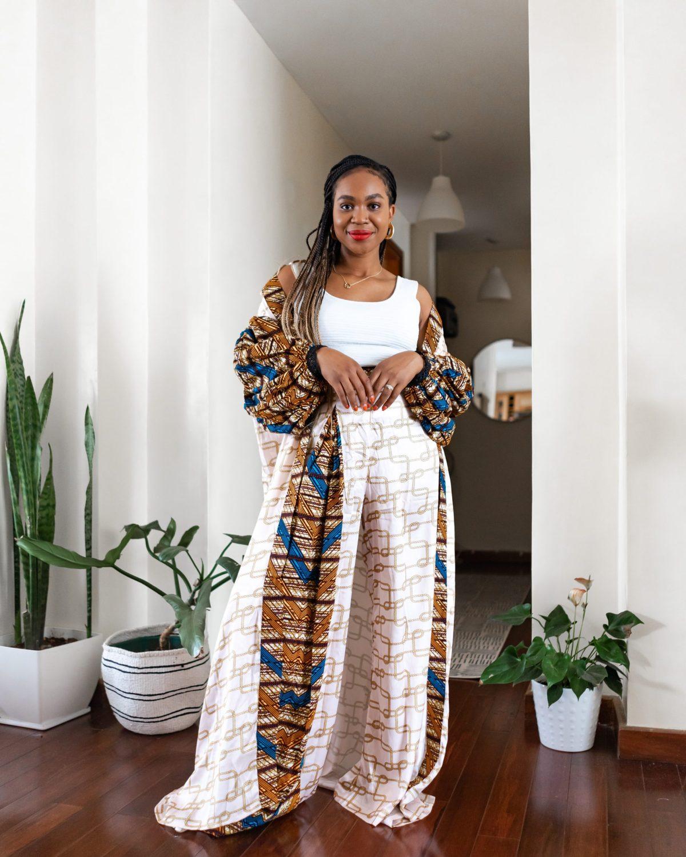 Ijeoma Kola in print kimono