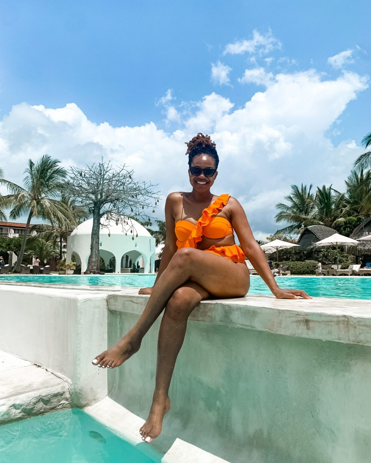 Ijeoma Kola in orange bikini