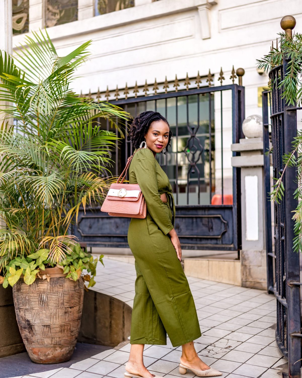 Ijeoma Kola in green two piece