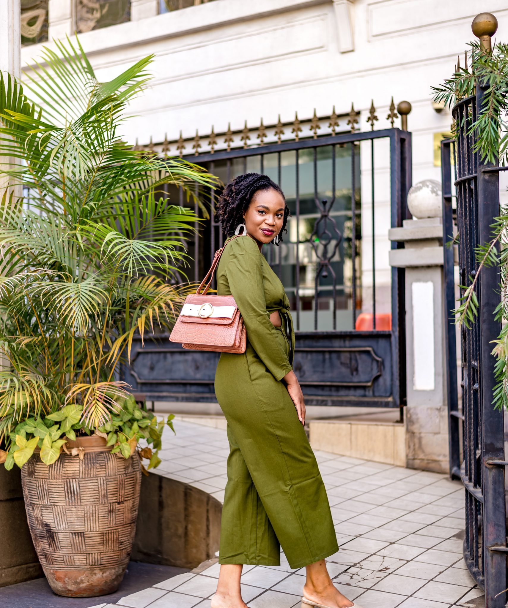 IJeoma. kola.in green two piece