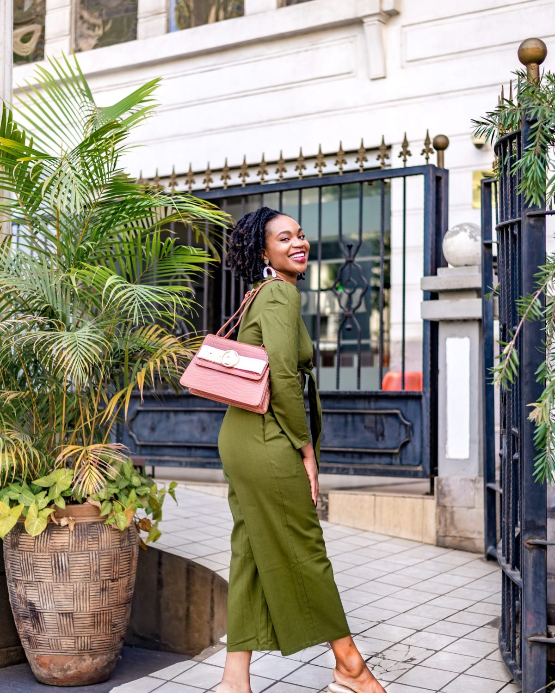 Ijeoma Kola in green two-piece set - Confidence Tips blog