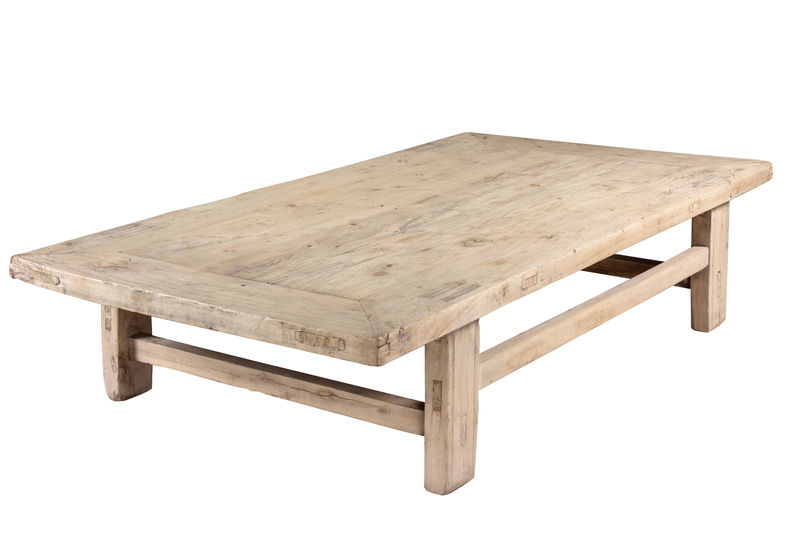 rustic elm coffee table view all side