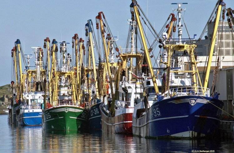 vissersschepen aan de kant