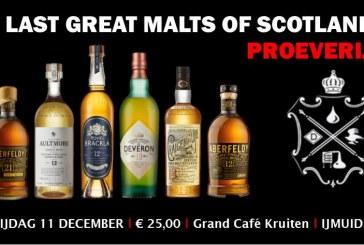 Ontdek op de laatste whiskyproeverij van het jaar