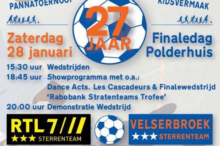 Stratenteams Velserbroek zaalvoetbaltoernooi van start.