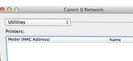 Canon IJ Network Tool does not Find Printer