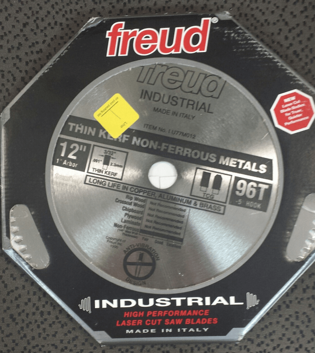 freud 12in saw blade