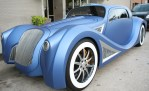 blue custom car