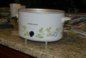 finished crock pot!
