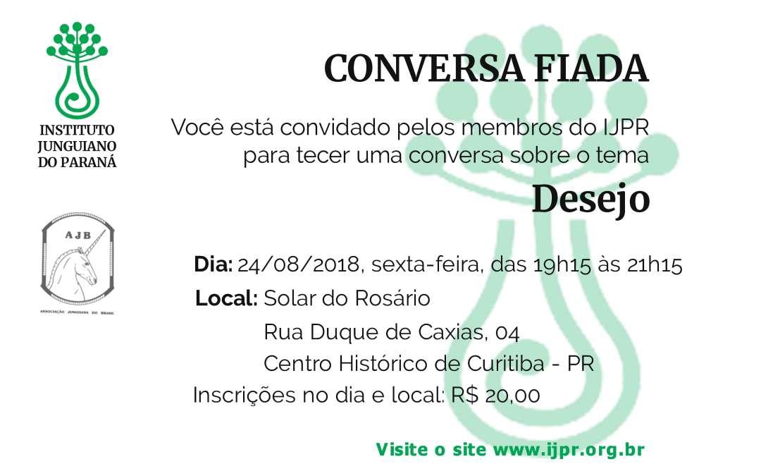 CONVERSA FIADA – TEMA DESEJO
