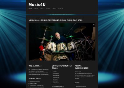 website coverband Music4U