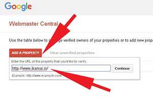 Add a property in Google