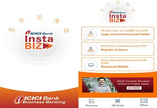 ICICI bank Instabiz app