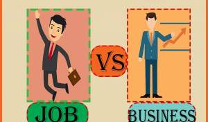job vs business in hindi