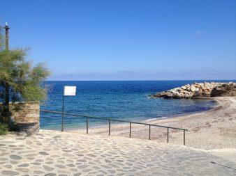 Karavostamo beach, western wild side