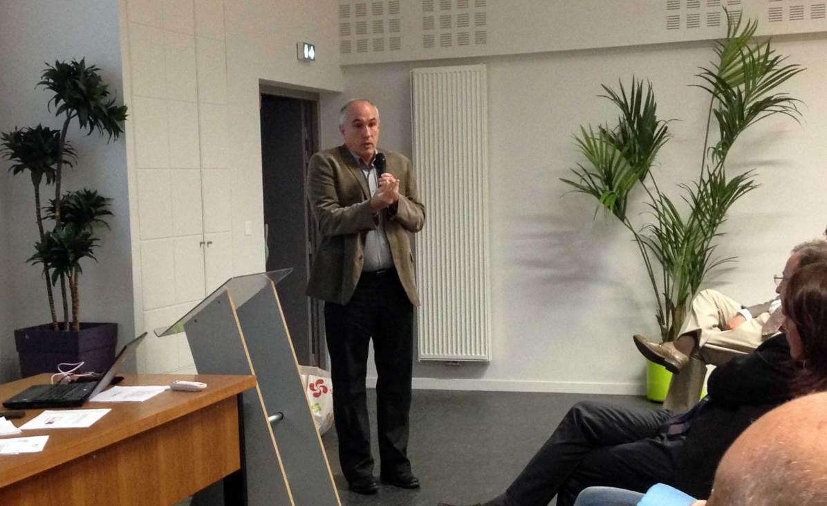 Jean-Claude Iriart, président du syndicat intercommunal pour le soutien à la culture basque