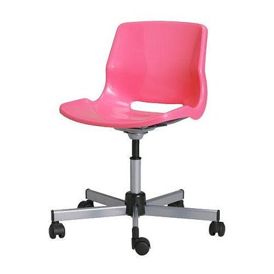 snille chaise de bureau rose