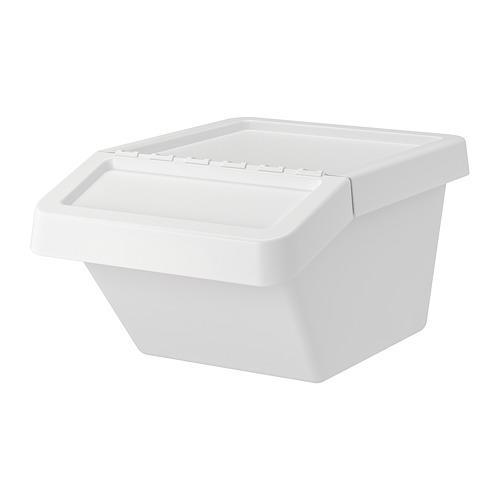 sortera poubelle blanche 41x55x28 cm