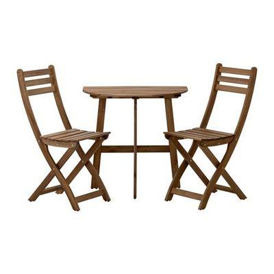 askholmen table de balcon 2 chaises pliantes
