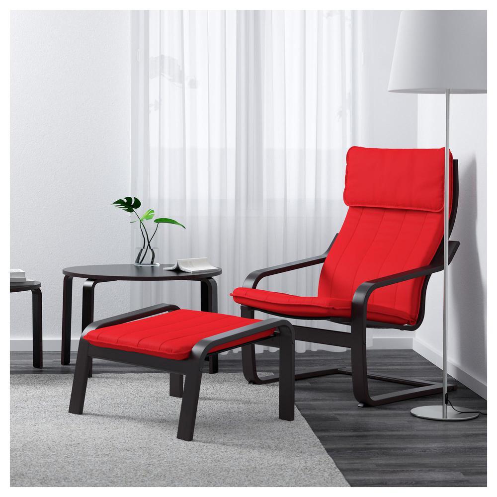 poeng fauteuil rouge ransta ransta rouge