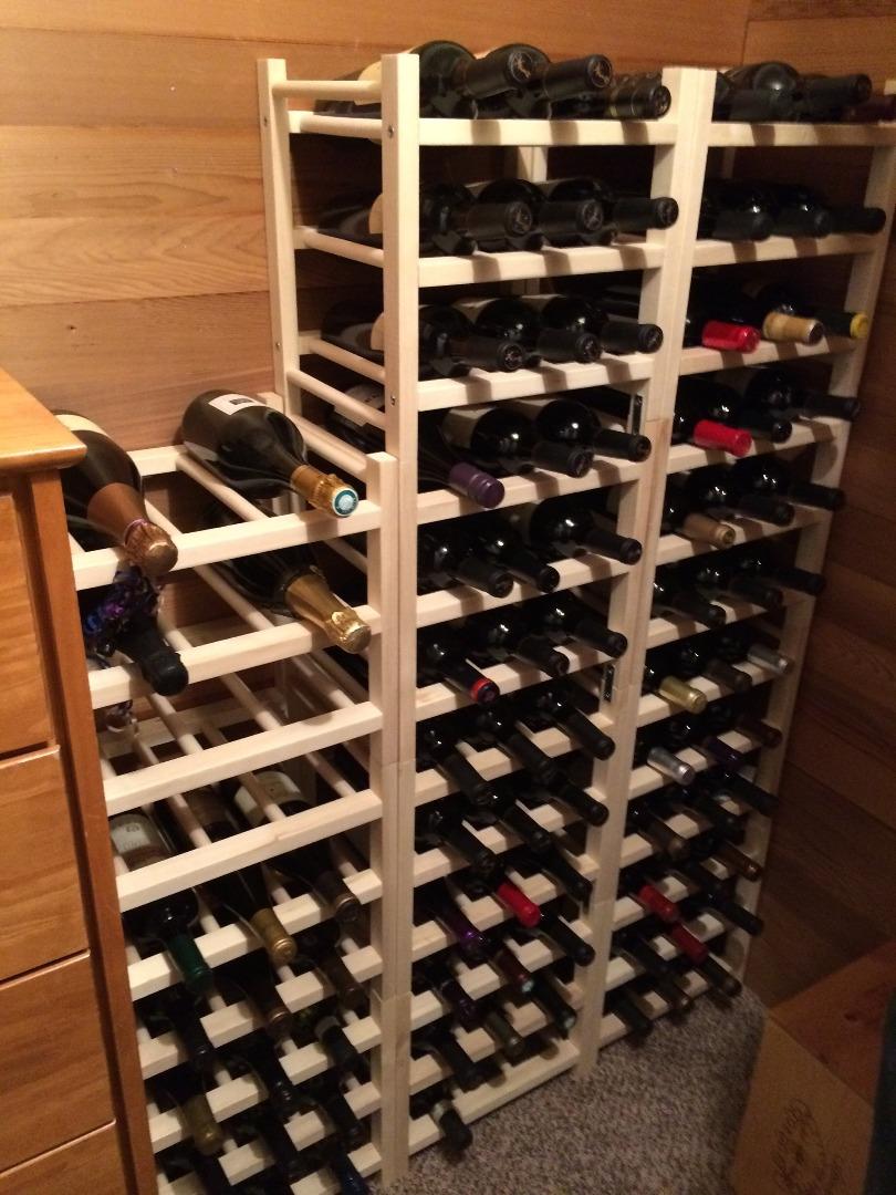 vin des supports pour bouteilles hutten
