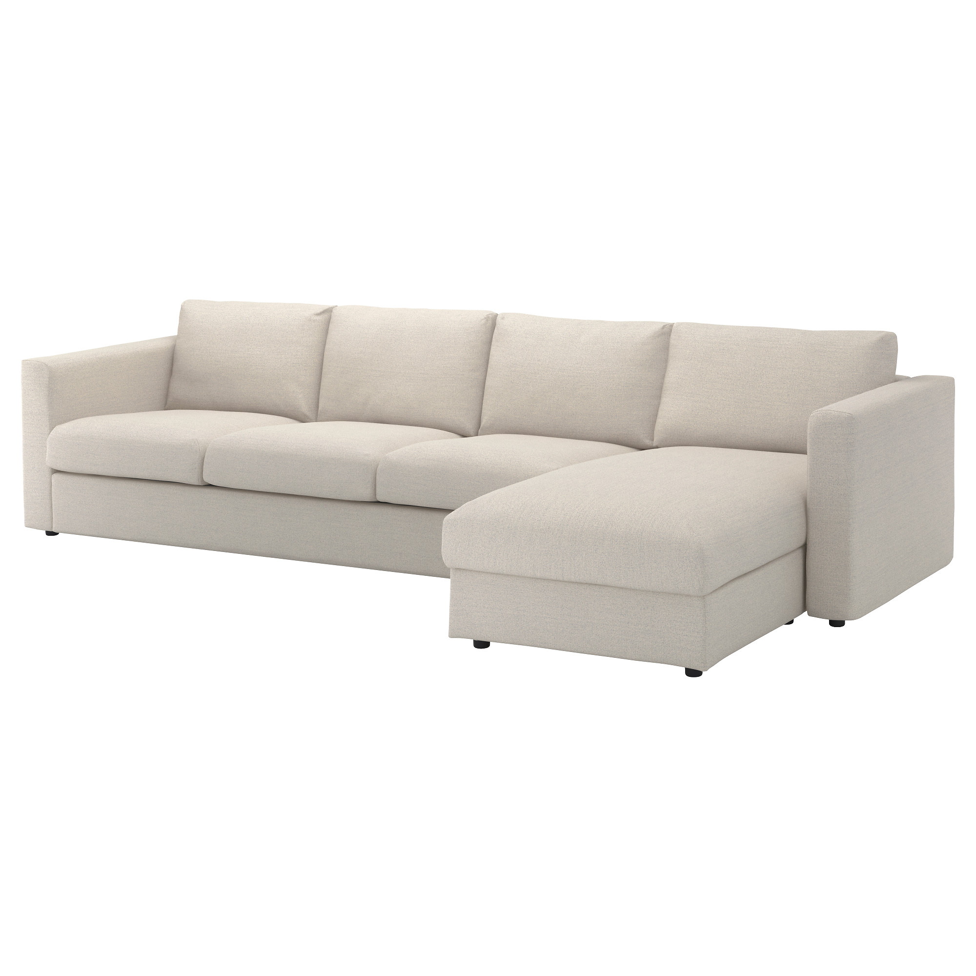 vimle 4 seat sofa with chaise longue gunnared beige