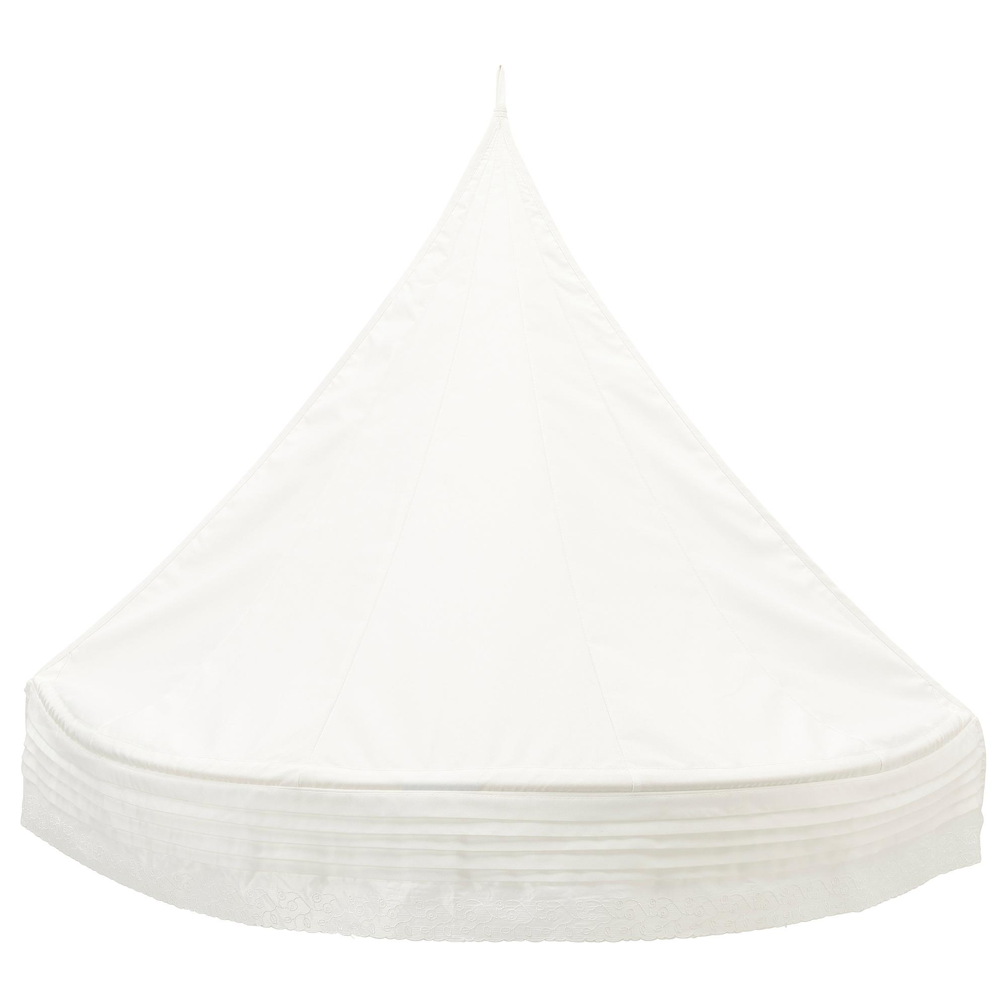 len bed canopy white
