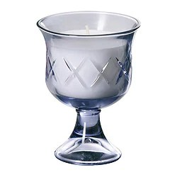 """LÖNSBODA Scented candle in glass light lilac Height: 5 """"  Height: 13 cm"""