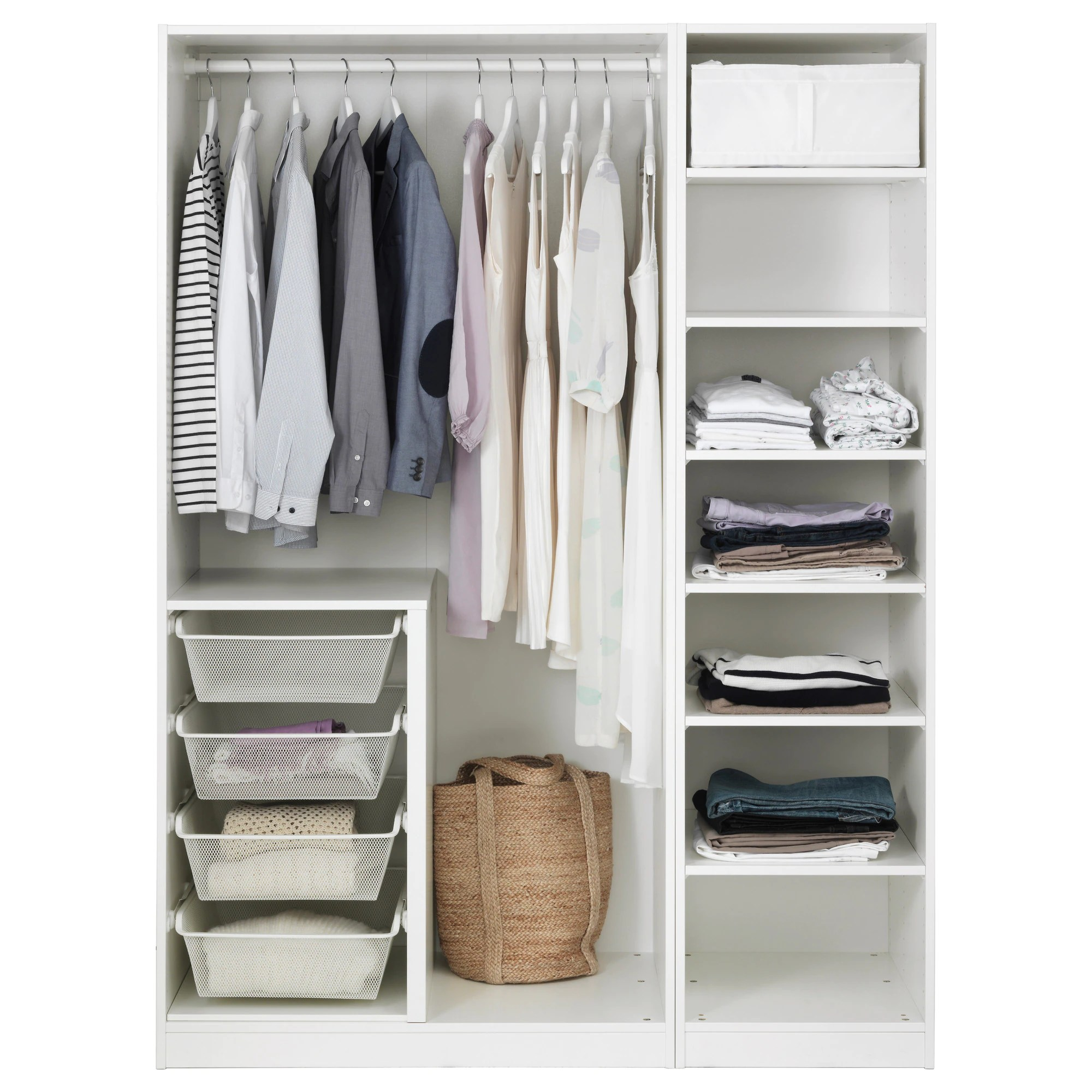 Pax Wardrobe System Without Doors Ikea