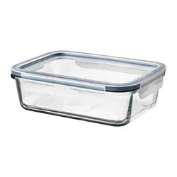 Ikea 365 Food Container With Lid Rectangular Glass Plastic Glass
