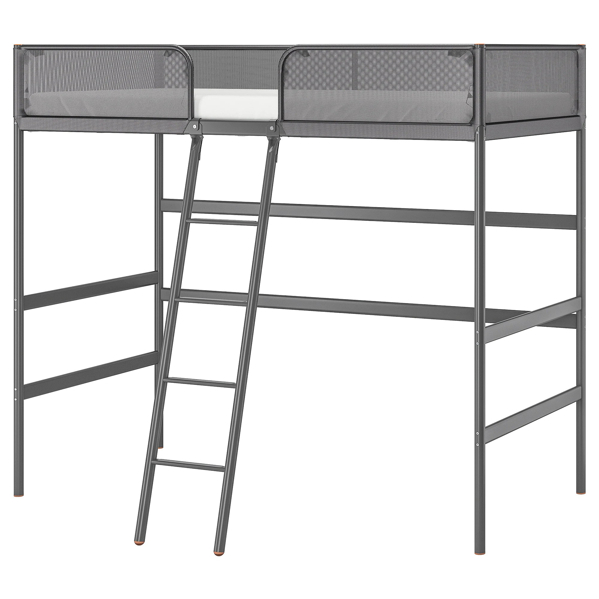 Tuffing Loft Bed Frame Dark Gray