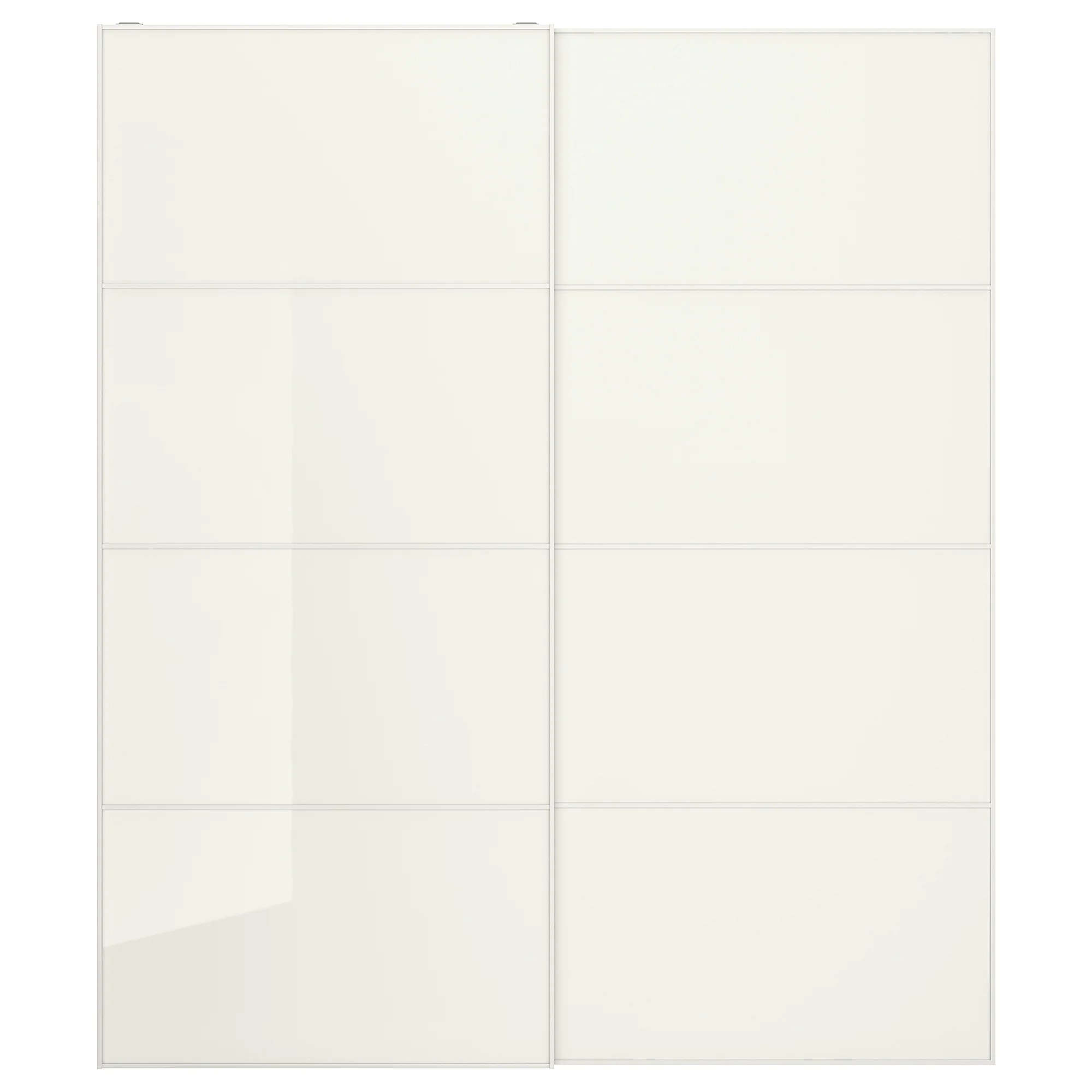 Farvik Pair Of Sliding Doors White Glass Ikea