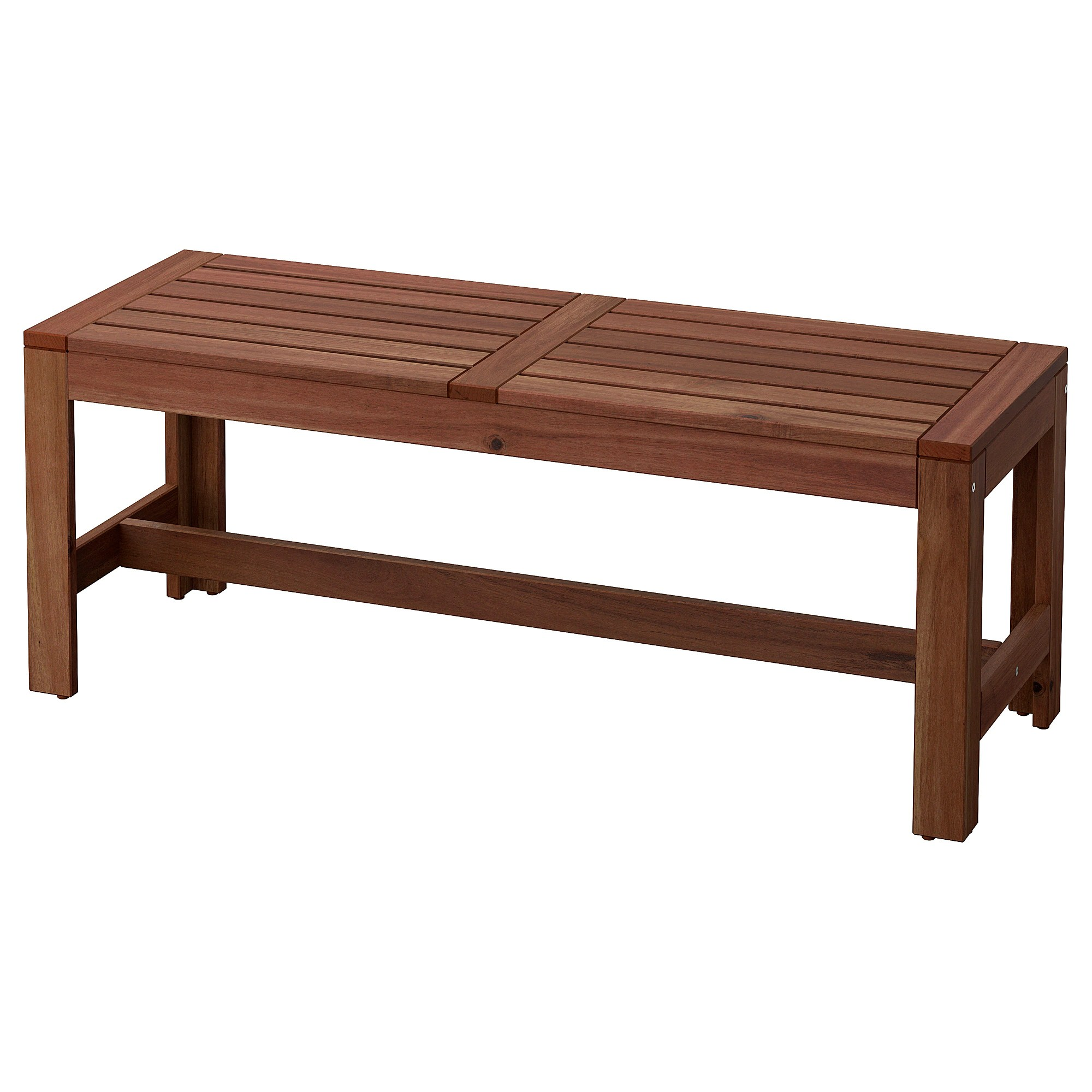 196 Pplar 214 Bench Outdoor Brown Stained Ikea