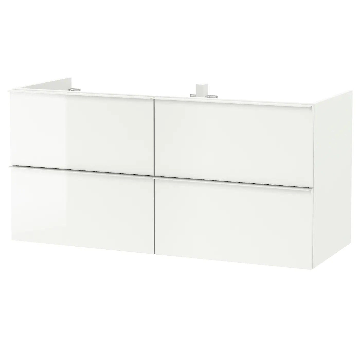 Godmorgon Wash Stand With 4 Drawers High Gloss White 120x47x58 Cm Ikea