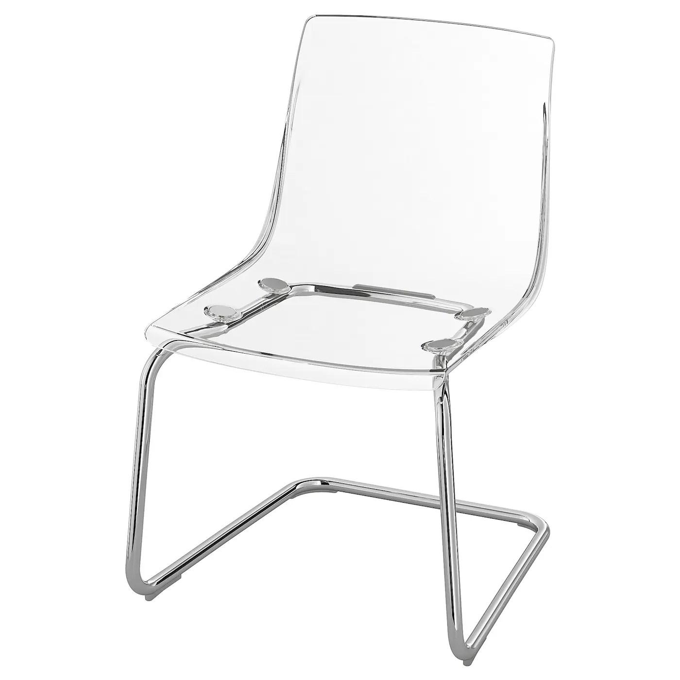 tobias chair transparent chrome plated